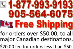 Free Shipping to all major Canadian destinations