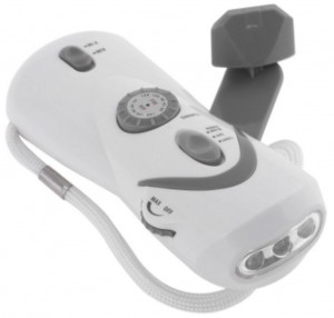 Hand-Crank Powered Light, AM-FM Radio & USB Device Charger (4 in 1 Function)